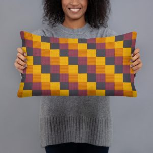 Diagonal Pattern Pillow With Polyester Case