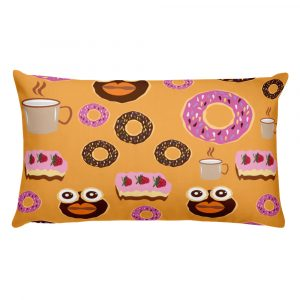 Donut Takeover Pillow - Illustrated Pillows